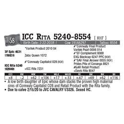 Lot - 58 - ICC Rita 5240-8554 [ NHF ]