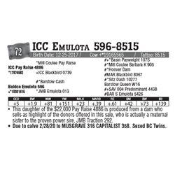 Lot - 72 - ICC Emulota 596-8515