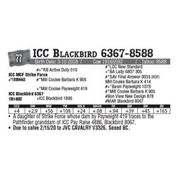 Lot - 77 - ICC Blackbird 6367-8588