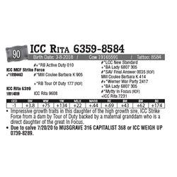 Lot - 90 - ICC Rita 6359-8584