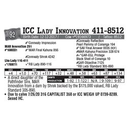 Lot - 92 - ICC Lady Innovation 411-8512