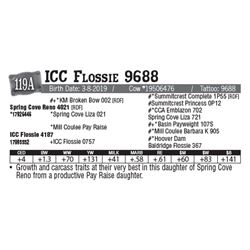 Lot - 119A - ICC Flossie 9688