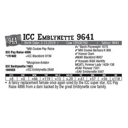 Lot - 94A - ICC Emblynette 9641