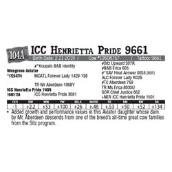 Lot - 104A - ICC Henrietta Pride 9661
