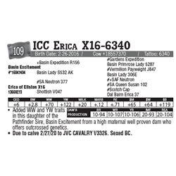 Lot - 109 - ICC Erica X16-6340