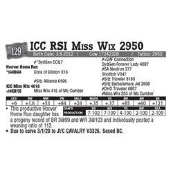Lot - 129 - ICC RSI Miss Wix 2950