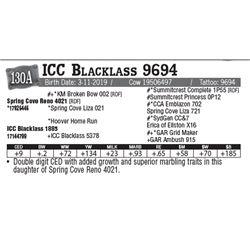 Lot - 130A - ICC Blacklass 9694