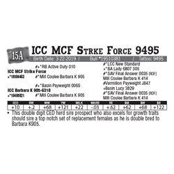 Lot - 15A - ICC MCF Strke Force 9495