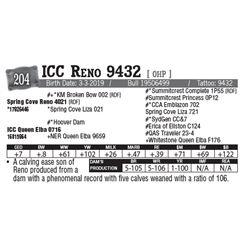 Lot - 204 - ICC Reno 9432 [ OHP ]
