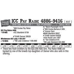 Lot - 220B - ICC Pay Raise 4886-9416 [ NHF ]