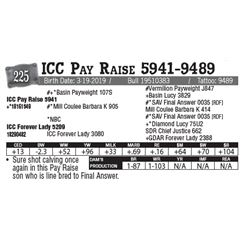 Lot - 225 - ICC Pay Raise 5941-9489