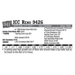 Lot - 184A - ICC Reno 9426