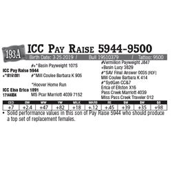 Lot - 193A - ICC Pay Raise 5944-9500