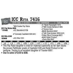 Lot - 160 - ICC Rita 7416