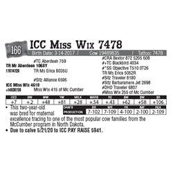 Lot - 166 - ICC Miss Wix 7478