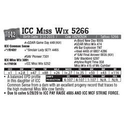 Lot - 142 - ICC Miss Wix 5266