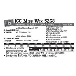 Lot - 143 - ICC Miss Wix 5268