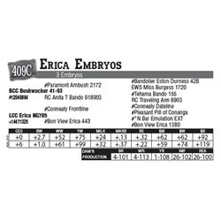 Lot - 409C - Erica Embryos