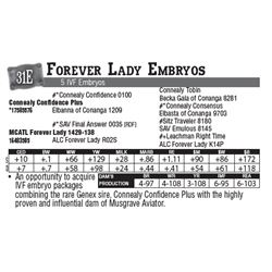 Lot - 31E - Forever Lady Embryos