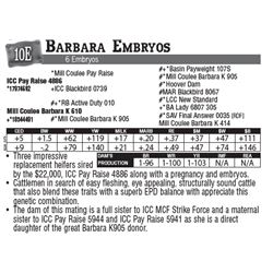 Lot - 10E - Barbara Embryos