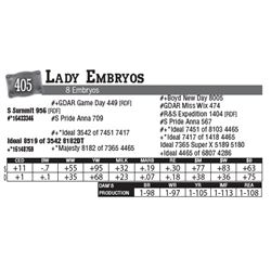 Lot - 405 - Lady Embryos