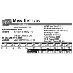 Lot - 407 - Miss Embryos