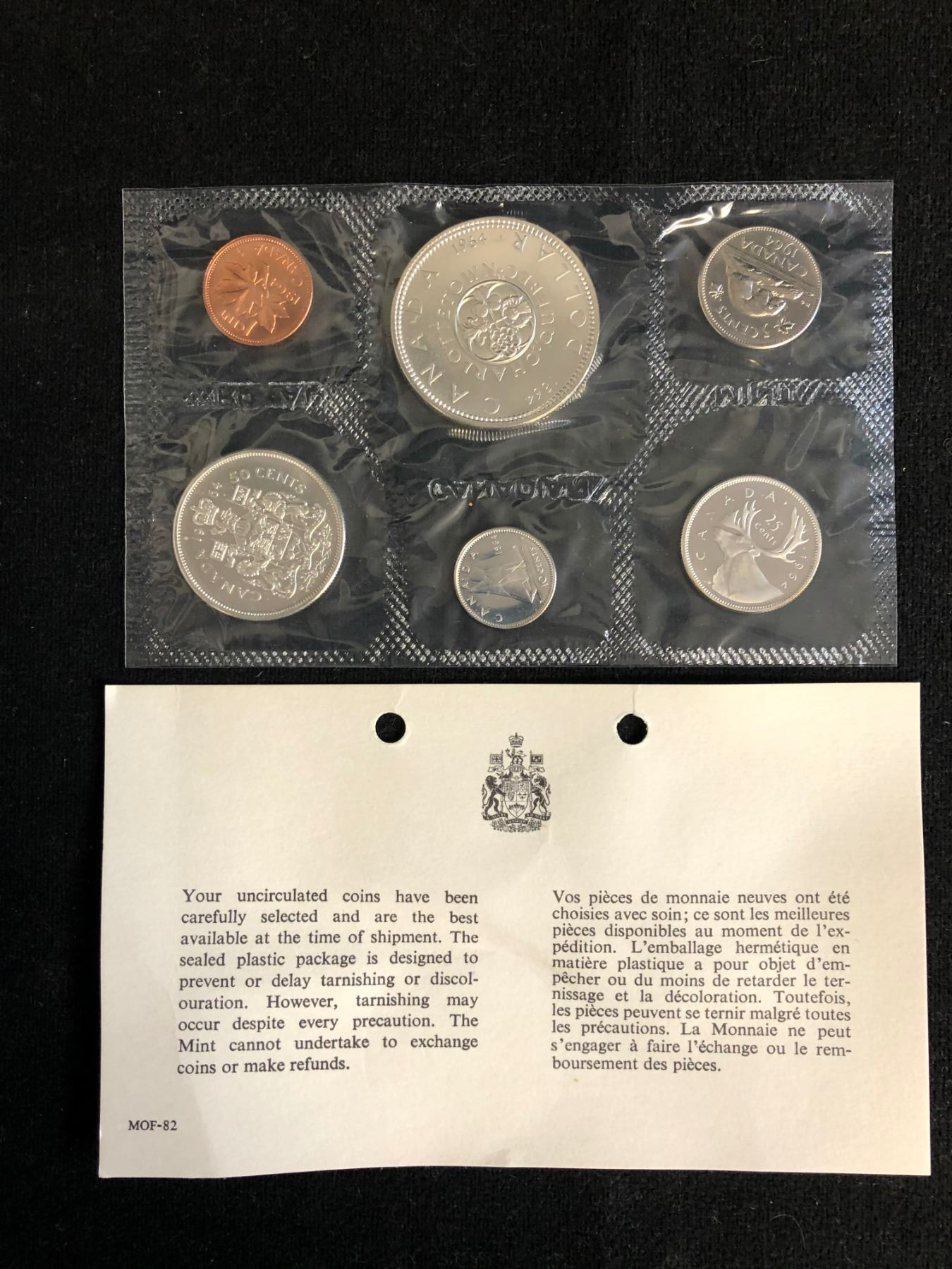 Proof Like 1964 Canada 1 Cent From Mint/'s Set