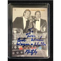 Wayne Walter Gretzky Signed Mcdonald S Hockey Card