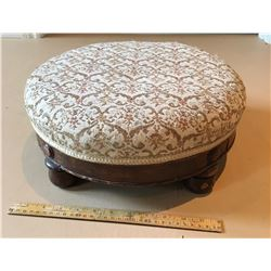 ANTIQUE UPHOLSTERED FOOT STOOL