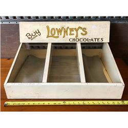 LOWNEY'S CHOCOLATES COUNTER TOP DISPLAY