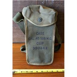 MILITARY CANVAS AMMO BAG - FOR .45 CAL SUB MACHINE GUN AMMO