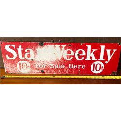 "STAR WEEKLY SIGN - APPROX 27"" SST"