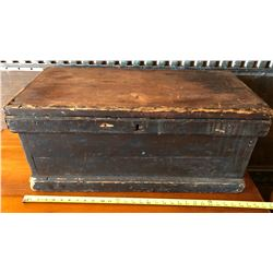 "ANTIQUE PINE TOY BOX - APPROX 13"" X 14"" X 28"""