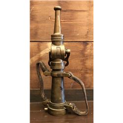 VINTAGE BRASS WOOSTER FIRE NOZZLE