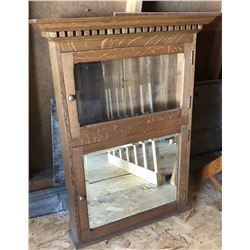 ANTIQUE BARBERS CABINET