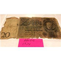 1924 DANZIG NOTE