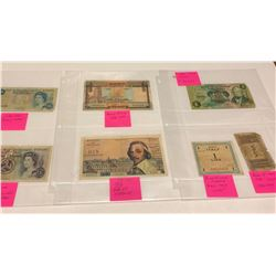 GR OF 7 BANK NOTES - VARIOUS COUNTRIES