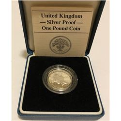 UK - SILVER PROOF - 1 POUND COIN