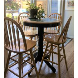 BISTRO STYLE KITCHEN TABLE WITH 4 STOOLS