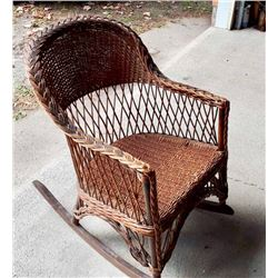 GR OF 2 WICKER ROCKING CHAIRS