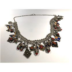 SILVER NECKLACE - MIDDLE EAST STONE LOOK