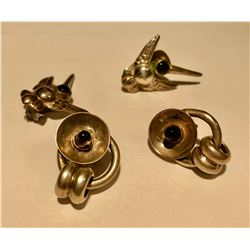 GR OF 2 SILVER CLIP ON EARRING SETS