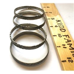 GR OF 4 BANGLES - ? SILVER