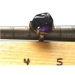 ERNEST STEINER RING WITH PURPLE STONE