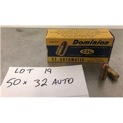 AMMO: 50 x .32 AUTO