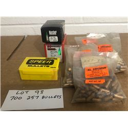 AMMO: APPROX. 700 X .257 BULLETS