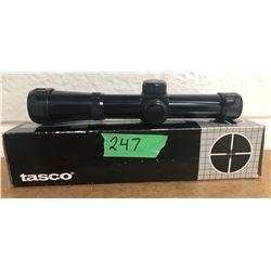 TASCO 2 X 20 PISTOL SCOPE - NEW IN BOX