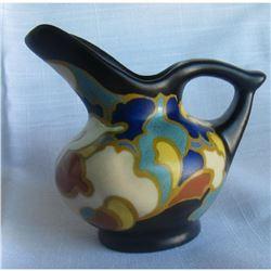 1930's Art Deco Pottery, Regina Gouda Holland, Small Pitcher