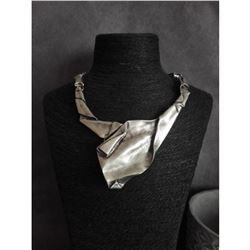Modern Design Silver Plated Statement Necklace