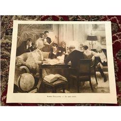 1920's French Magazine Print, Les Mots Croises by Albert Guillaume